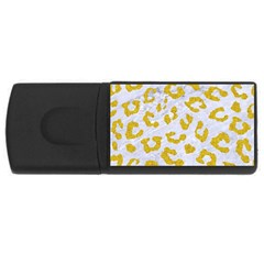 Skin5 White Marble & Yellow Denim Rectangular Usb Flash Drive by trendistuff