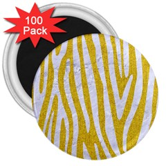 Skin4 White Marble & Yellow Denim (r)skin4 White Marble & Yellow Denim (r) 3  Magnets (100 Pack) by trendistuff