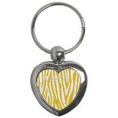 Skin4 White Marble & Yellow Denim (r)skin4 White Marble & Yellow Denim (r) Key Chains (heart)  by trendistuff