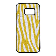Skin4 White Marble & Yellow Denim (r)skin4 White Marble & Yellow Denim (r) Samsung Galaxy S7 Black Seamless Case by trendistuff