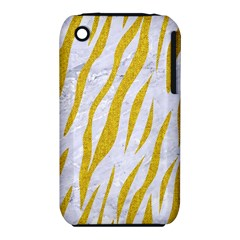 Skin3 White Marble & Yellow Denim (r) Iphone 3s/3gs by trendistuff