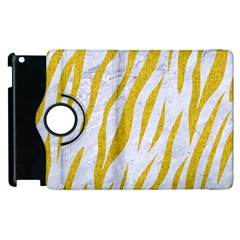 Skin3 White Marble & Yellow Denim (r) Apple Ipad 2 Flip 360 Case by trendistuff