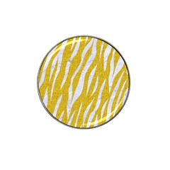 Skin3 White Marble & Yellow Denim Hat Clip Ball Marker (10 Pack) by trendistuff