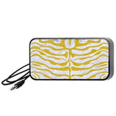 Skin2 White Marble & Yellow Denim (r) Portable Speaker by trendistuff