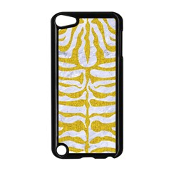 Skin2 White Marble & Yellow Denim (r) Apple Ipod Touch 5 Case (black) by trendistuff