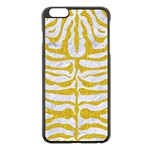 SKIN2 WHITE MARBLE & YELLOW DENIM (R) Apple iPhone 6 Plus/6S Plus Black Enamel Case Front