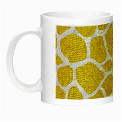 Skin1 White Marble & Yellow Denim (r) Night Luminous Mugs by trendistuff