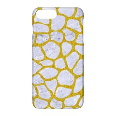 Skin1 White Marble & Yellow Denim Apple Iphone 8 Plus Hardshell Case by trendistuff
