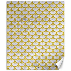 Scales3 White Marble & Yellow Denim (r) Canvas 8  X 10  by trendistuff