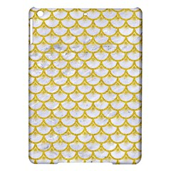 Scales3 White Marble & Yellow Denim (r) Ipad Air Hardshell Cases by trendistuff