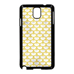 Scales3 White Marble & Yellow Denim (r) Samsung Galaxy Note 3 Neo Hardshell Case (black) by trendistuff