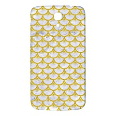 Scales3 White Marble & Yellow Denim (r) Samsung Galaxy Mega I9200 Hardshell Back Case by trendistuff