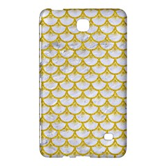 Scales3 White Marble & Yellow Denim (r) Samsung Galaxy Tab 4 (8 ) Hardshell Case  by trendistuff
