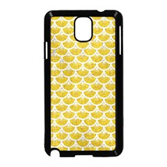 Scales3 White Marble & Yellow Denim Samsung Galaxy Note 3 Neo Hardshell Case (black) by trendistuff
