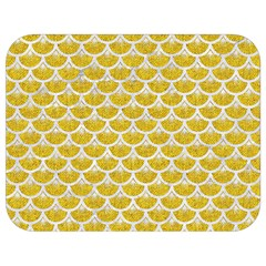 Scales3 White Marble & Yellow Denim Full Print Lunch Bag by trendistuff