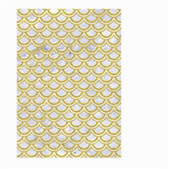 Scales2 White Marble & Yellow Denim (r) Large Garden Flag (two Sides) by trendistuff