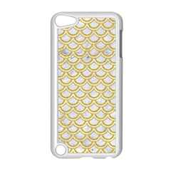 Scales2 White Marble & Yellow Denim (r) Apple Ipod Touch 5 Case (white) by trendistuff