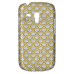 Scales2 White Marble & Yellow Denim (r) Galaxy S3 Mini by trendistuff