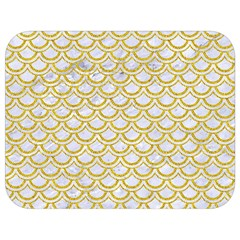 Scales2 White Marble & Yellow Denim (r) Full Print Lunch Bag by trendistuff