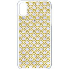 Scales2 White Marble & Yellow Denim (r) Apple Iphone X Seamless Case (white)