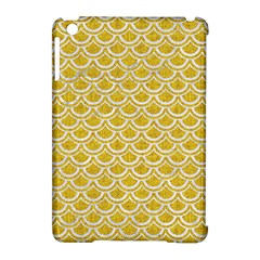 Scales2 White Marble & Yellow Denim Apple Ipad Mini Hardshell Case (compatible With Smart Cover) by trendistuff