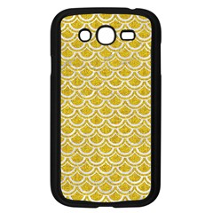 Scales2 White Marble & Yellow Denim Samsung Galaxy Grand Duos I9082 Case (black) by trendistuff