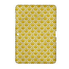 Scales2 White Marble & Yellow Denim Samsung Galaxy Tab 2 (10 1 ) P5100 Hardshell Case  by trendistuff