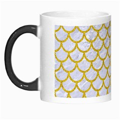 Scales1 White Marble & Yellow Denim (r) Morph Mugs