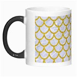 SCALES1 WHITE MARBLE & YELLOW DENIM (R) Morph Mugs Left
