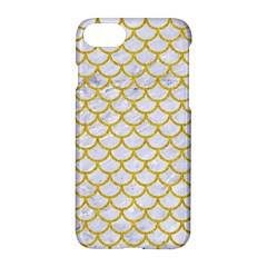 Scales1 White Marble & Yellow Denim (r) Apple Iphone 8 Hardshell Case by trendistuff
