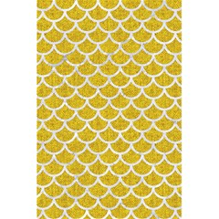 Scales1 White Marble & Yellow Denim 5 5  X 8 5  Notebooks by trendistuff