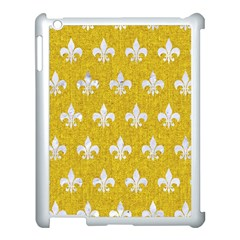 Royal1 White Marble & Yellow Denim (r) Apple Ipad 3/4 Case (white) by trendistuff