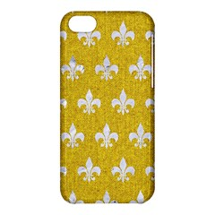 Royal1 White Marble & Yellow Denim (r) Apple Iphone 5c Hardshell Case by trendistuff