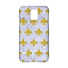 Royal1 White Marble & Yellow Denim Samsung Galaxy S5 Hardshell Case  by trendistuff
