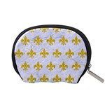 ROYAL1 WHITE MARBLE & YELLOW DENIM Accessory Pouches (Small)  Back
