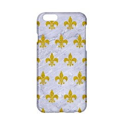 Royal1 White Marble & Yellow Denim Apple Iphone 6/6s Hardshell Case by trendistuff