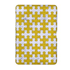Puzzle1 White Marble & Yellow Denim Samsung Galaxy Tab 2 (10 1 ) P5100 Hardshell Case  by trendistuff