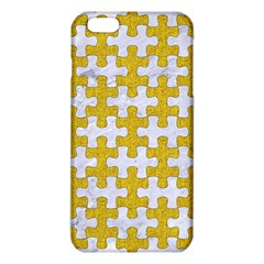 Puzzle1 White Marble & Yellow Denim Iphone 6 Plus/6s Plus Tpu Case by trendistuff