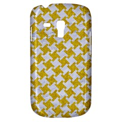 Houndstooth2 White Marble & Yellow Denim Galaxy S3 Mini by trendistuff