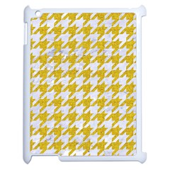 Houndstooth1 White Marble & Yellow Denim Apple Ipad 2 Case (white) by trendistuff