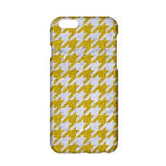 Houndstooth1 White Marble & Yellow Denim Apple Iphone 6/6s Hardshell Case by trendistuff
