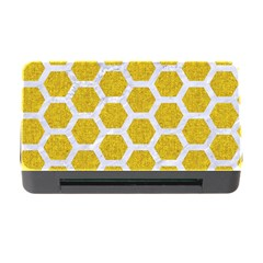 Hexagon2 White Marble & Yellow Denim Memory Card Reader With Cf by trendistuff