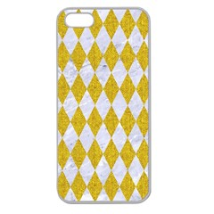Diamond1 White Marble & Yellow Denim Apple Seamless Iphone 5 Case (clear) by trendistuff