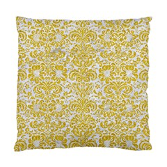 Damask2 White Marble & Yellow Denim (r) Standard Cushion Case (two Sides) by trendistuff