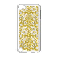 Damask2 White Marble & Yellow Denim (r) Apple Ipod Touch 5 Case (white) by trendistuff