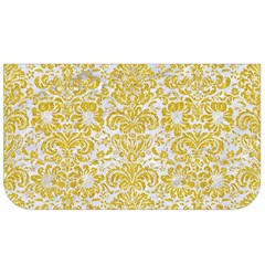 Damask2 White Marble & Yellow Denim (r) Lunch Bag