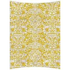 Damask2 White Marble & Yellow Denimhite Marble & Yellow Denim Back Support Cushion by trendistuff