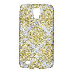 Damask1 White Marble & Yellow Denim (r) Galaxy S4 Active