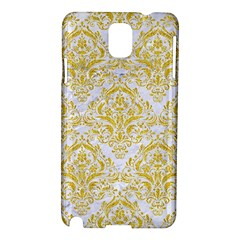 Damask1 White Marble & Yellow Denim (r) Samsung Galaxy Note 3 N9005 Hardshell Case by trendistuff