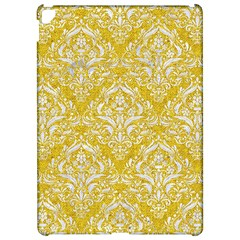 Damask1 White Marble & Yellow Denim Apple Ipad Pro 12 9   Hardshell Case by trendistuff
